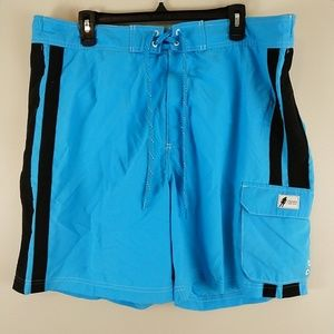 Chaps Men's Large Blue Swim Trunks Board Shorts XL